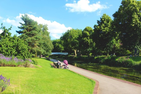 Part of Victoria Park in Stafford.