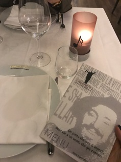 At the Luciano Pavarotti Restaurant and Museum.