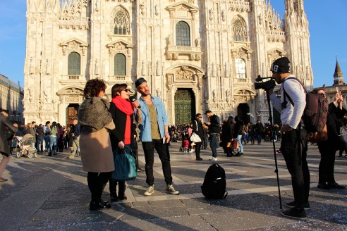 Cameras all over Milan during MFW.
