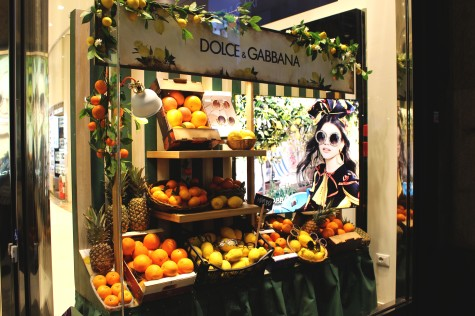 Dolce & Gabbana window displays for their new sunglasses collection.