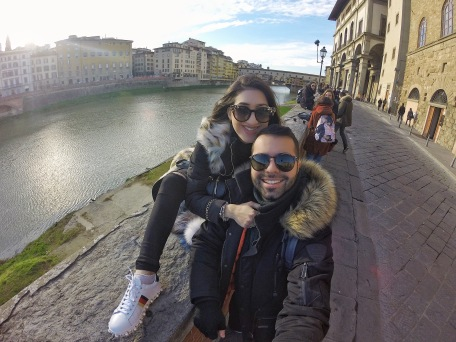 Selfieing with Ponte Vecchio!