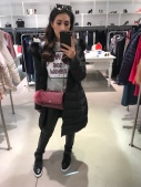A mirror selfie while shopping at Pinko!