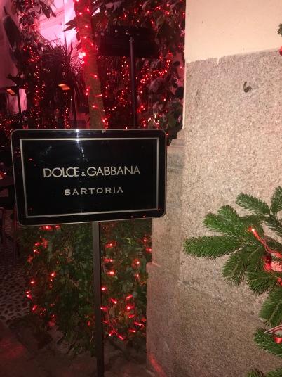 Dolce & Gabbana bar.