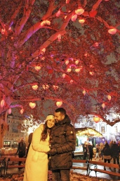 Under the love tree at Rathausplatz